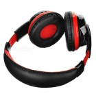 VYKON Bluetooth Headphone Voice Headset w/ Microphone - Black + Red
