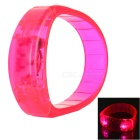CTSmart Voice Control Deep Pink LED Outdoor Sport Cycling Safety Bracelet Bangle Wristband - Pink