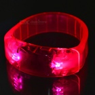CTSmart Voice Control Deep Pink LED Cycling Safety Wristband - Pink