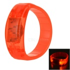 CTSmart Voice Control Orange LED Outdoor Sport Cycling Safety Bracelet Bangle Wristband - Orange