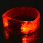 CTSmart Voice Control Orange LED Cycling Safety Wristband - Orange
