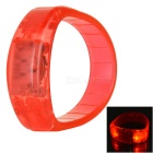 CTSmart Voice Control Red Light LED Outdoor Sport Cycling Safety Bracelet Bangle Wristband - Red