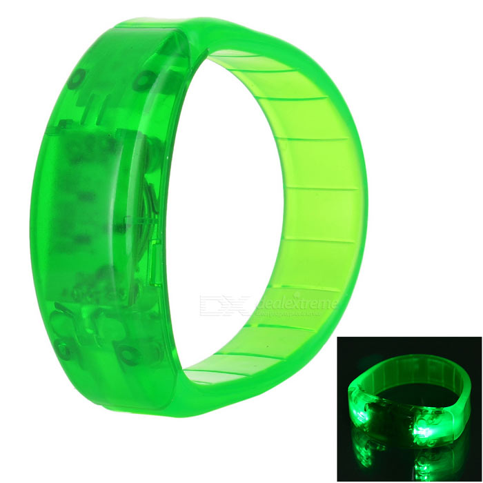 CTSmart Voice Control Green Light LED Cycling Safety Wristband - GreenBike Accessories<br>Form  ColorGreenQuantity1 DX.PCM.Model.AttributeModel.UnitMaterialSilicone + PSTypeOthers,Safety flashing bangleGenderUnisexWaterproofYesBest UseCycling,Mountain Cycling,Recreational Cycling,Others,Climbing, hikingCertificationCEPacking List1 x Wristband<br>