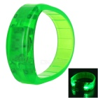CTSmart Voice Control Green Light LED Outdoor Sport Cycling Safety Bracelet Bangle Wristband - Green
