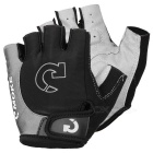 MOke Outdoor Cycling Riding Bike Motorcycle Anti-Slip Half-Finger Gloves - Black + Grey (XL / Pair)