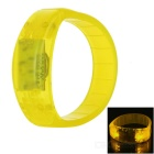 CTSmart Voice Control Yellow LED Outdoor Sport Cycling Safety Bracelet Bangle Wristband - Yellow