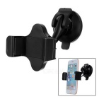 360 Degree Rotating Adjustable Car Suction Cup Type Phone Holder - Black