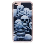 3D Skulls Pattern Protective TPU Back Case Cover for IPHONE 6 PLUS / 6S PLUS - Grey + Transparent