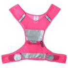 Salzmann Outdoor Cycling Jogging Reflective Safety Halter Vest Waistcoat - Deep Pink + Grey (L)