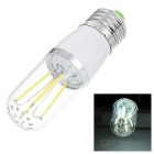 E27 4W LED Bulb Lamp White Light 6000K 100lm - White + Transparent (AC 85~265V)