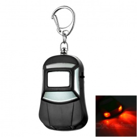 Car Anti-Lost Key Finder Alarm Locator Whistle w/ Red Light - Black