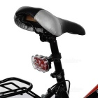 7-Mode 7-LED Red + Blue Light Bike Taillight - Red + Black (3*AAA)