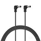 CY DC power 5,5 * 2,1 mm / 2,5 mm macho a cable macho - negro (60 cm)