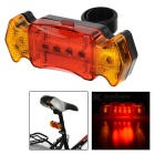 7-Mode 6-LED Red + Yellow Light Bike Taillight - Black + Red (2 x AAA)
