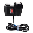 Motorcycle Refitting Dual USB + Cigarette Lighter Port 2.1A 12V Waterproof Power Charger - Black