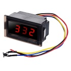"DIY Waterproof Car LED Digital Clock w/ 2"" Screen Red Display - Black"