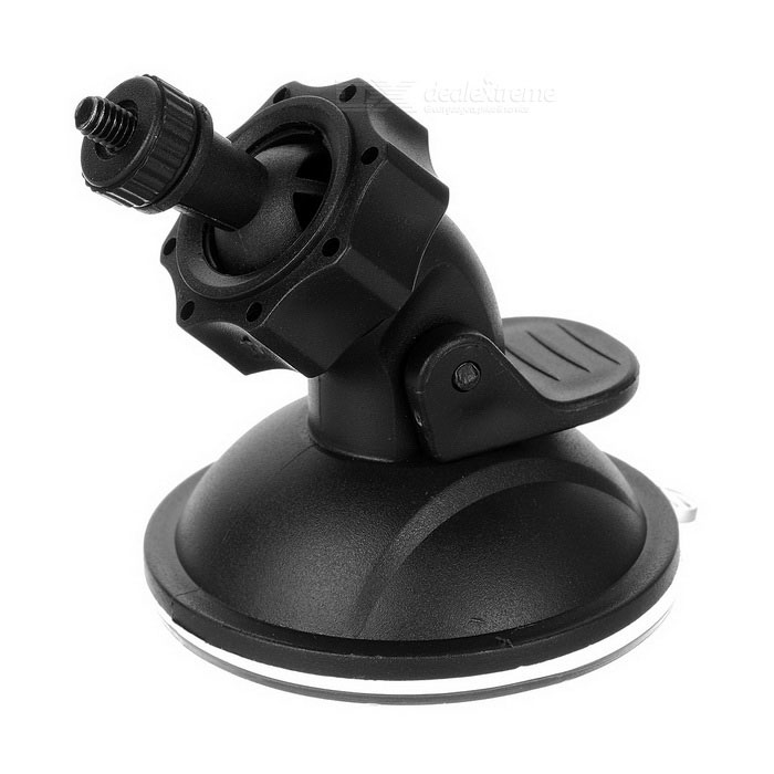 Mini 360' Rotatable Suction Cup Screw Fixed Car DVR Holder - Black