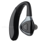 Bluetooth V4.0 Ear-Hook Earphones Headphone Headset w/ Mic / Replacement Batteries - Black + Silver