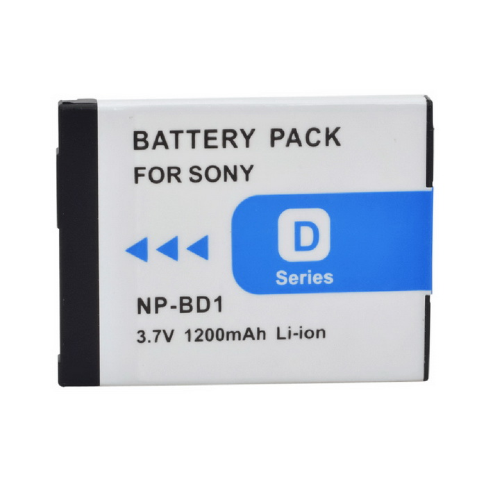 NP-BD1 Battery for Sony DSC-T90 TX1 T700 T300 - White (1200mAh)