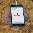 MO.MAT Qi Wireless Charger for Smart Phone - Green + Transparent