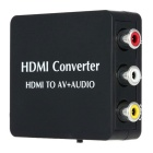Mini HDMI Converter HDMI RCA Audio Video AV CVBS SPDIF coassiale Convertitore adattatore nero