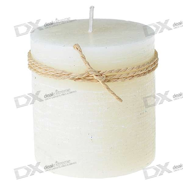 Aromatic Smokeless Lavender Candle - Milky White (7.2cm*7.6cm)