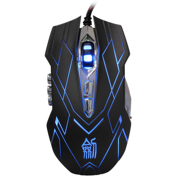 Jianshengyizu JS-X9 10-Key LED USB Wired Gaming Mouse - Brownish Black