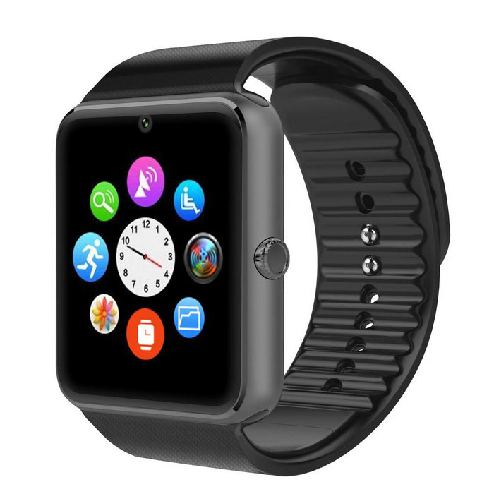 "1.54"" GT08 Screen BT Smart Wrist Watch for Android IOS - Black"
