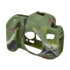 Durable Silicone Protective Case Cover Housing Cage for Canon 5D3 DSLR Cameras - Camouflage