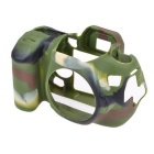 Durable Silicone Protective Case Cover Housing Cage for Canon 70D DSLR Cameras - Camouflage