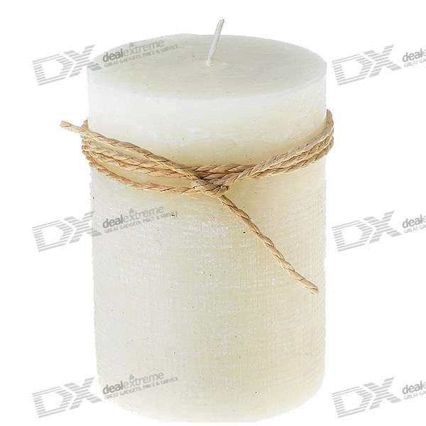 Aromatic Smokeless Lavender Candle - Milky White (7.2cm*10.3cm)