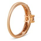 Xinguang Women's Simple Shiny Crystal Ring - Rose Golden (US 8)