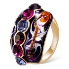 Xinguang Women's The Vast Beautiful Color Diamond Oil Painting Crystal Ring