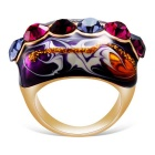 Xinguang Women's Diamond Oil Painting Crystal Ring - Golden (US 8)