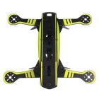 Universal Super Racing Glass Fiber Frame Rack Kit for Quadcopter R/C Toy - Black + Yellow