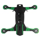 Universal Super Racing Glass Fiber Frame Rack Kit for Quadcopter R/C Toy - Black + Green