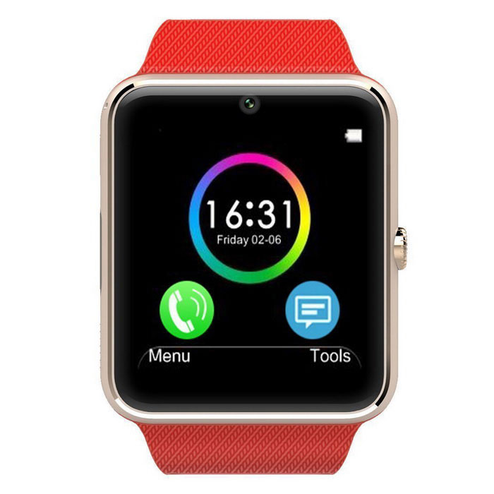 "1.54"" GT08 Screen BT Smart Wrist Watch for Android, IOS - Red"