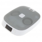 """USB Rechargeable 1.4"""" LCD MP3 Music Speaker with FM Radio/SD/USB - White (3.5mm)"""
