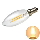 E14 2W 2-LED Filament Candle Bulb Lamp Warm White Light 3200K 400lm