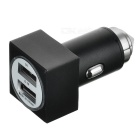 Cwxuan Metal Safety Hammer Style Dual USB Car Charger - Black + Silver