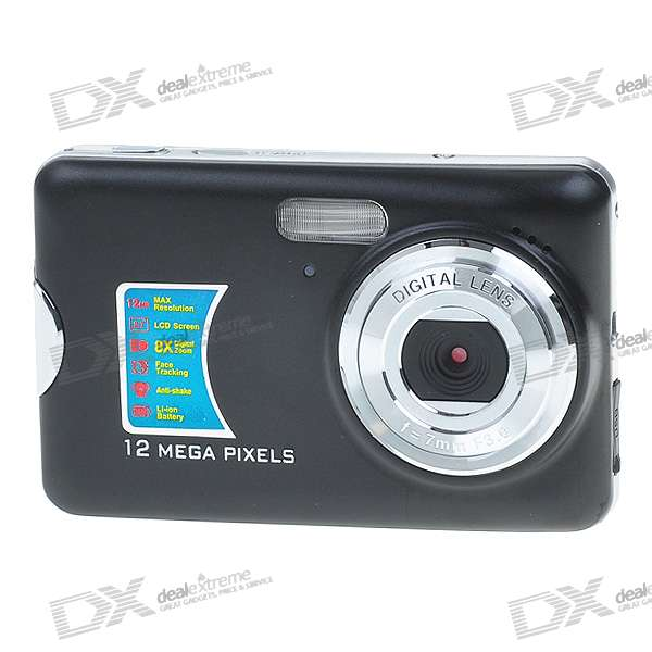 "DC-590 2.7"" TFT LCD 5.0 MP CMOS Digital Camera with Smile Capture/8X Digital Zoom/SD Card Slot"