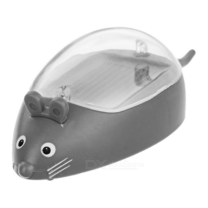 Spoof Little Mouse Style Solar Powered Educational Toy for Kid - Grey
