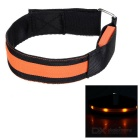 Outdoor Sports Orange Light Flashing 3-Mode 4-LED Safety Warning Strap Arm Band - Orange (2pcs)