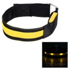Outdoor Sports Yellow Light Flashing 3-Mode 4-LED Safety Warning Strap Arm Band - Yellow (2pcs)