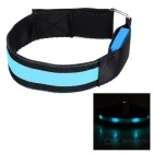 Outdoor Sports Cycling Blue Light Flashing 3-Mode 4-LED Safety Warning Strap Arm Band - Blue (2pcs)