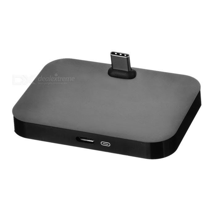Carregamento dock w / USB 3.1 type-c para google nexus / letv + mais - preto