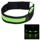 Outdoor Sports Cycling Green Light Flashing 3-Mode 4-LED Safety Warning Strap Arm Band - Green(2pcs)