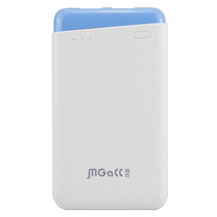 MGALL 8000mAh Power Bank + Night Light w/ LED Indicator - Blue + White