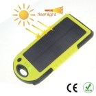 Waterproof Shakeproof Anti-dust 4000mAh Solar Portable Charger - Black + Yellow
