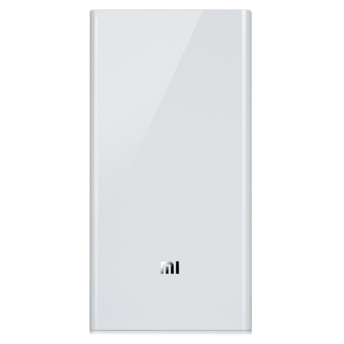 "Xiaomi ""20000mAh"" Dual USB Móvel Li-ion Power Bank - Branco"